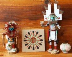 画像2: サンドペイント 砂絵 ナバホ インディアン ハンドメイド/Americn Indian Navajo Sandpainting (2)