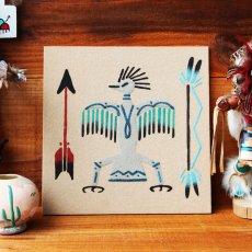画像1: アメリカインディアン ナバホ族 サンドペイント 砂絵/Navajo Sandpainting (1)