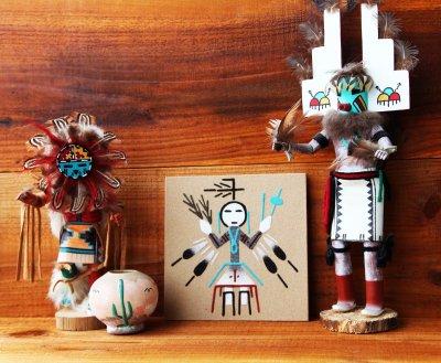 画像2: サンドペイント 砂絵 ナバホ インディアン ハンドメイド/Americn Indian Navajo Sandpainting