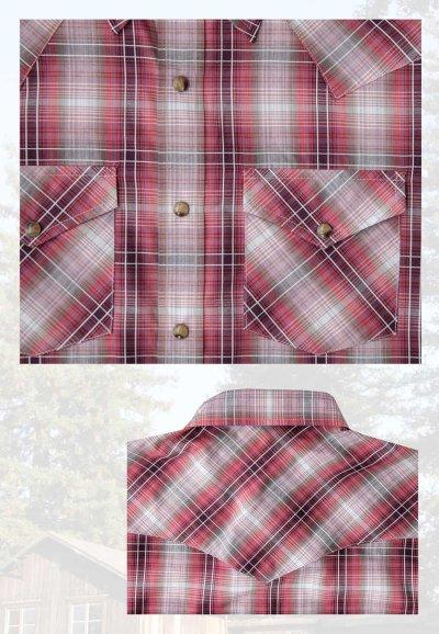 画像2: ペンドルトン 半袖 ウエスタン シャツ レッドプラッドS/Pendleton Short Sleeve Western Shirt