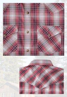 画像3: ペンドルトン 半袖 ウエスタン シャツ レッドプラッドS/Pendleton Short Sleeve Western Shirt (3)