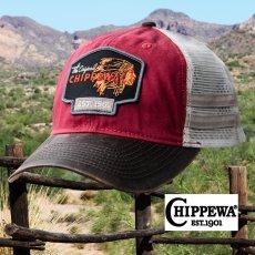 画像2: チペワ ブーツ メッシュ キャップ(ブラック・ダークブラウン)/Chippewa Boots Mesh Cap The Original CHIPPEWA EST.1901(Black) (2)