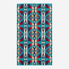 画像3: PENDLETON ペンドルトン ジャガードバスタオル/Pendleton Tucson Spa Towel(Turquoise) (3)