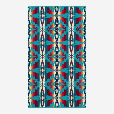 画像3: PENDLETON ペンドルトン ジャガードバスタオル/Pendleton Tucson Spa Towel(Turquoise)