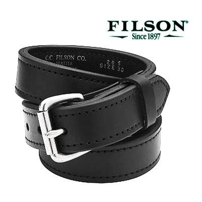 画像3: フィルソン ダブル ベルト ブラック(幅38mm 厚み7mm)/Filson 1-1/2 Bridle Leather Double Belt(Black)