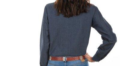 画像3: スカリー ホワイト刺繍 ウエスタン シャツ(長袖/デニム)S/Scully Long Sleeve Western Shirt(Women's)