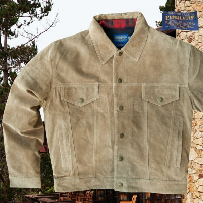 画像1: ペンドルトン スエード ジャケット(ライトブラウン)/Pendleton Suede Jacket
