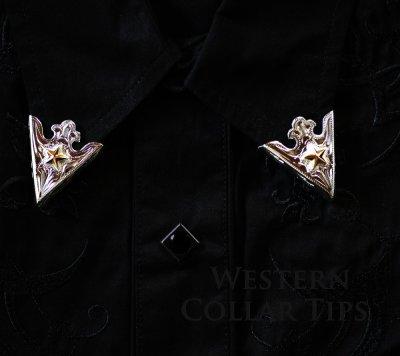 画像2: ウエスタン カラーチップ(ゴールドスター)/Collar Tips