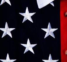 画像2: スカリー 刺繍スター☆ USA アメリカ国旗 シャツ(半袖/アメリカンフラッグ)/Scully Western Shirt(Women's) (2)