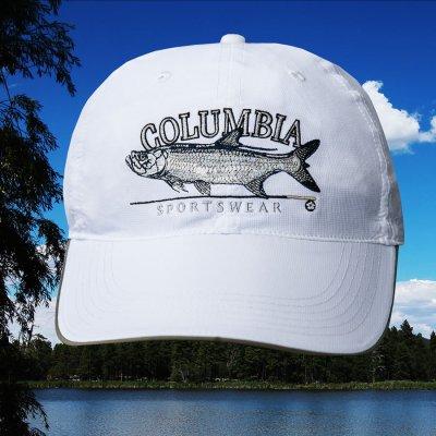 画像1: コロンビア サンプロテクト フィッシュ キャップ(ホワイト)/Columbia Baseball Cap
