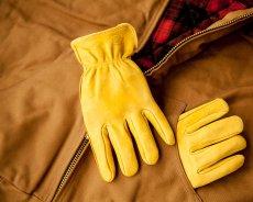 画像2: ディッキーズ 鹿革手袋 パインイエロー(裏地なし)M/Dickies Genuine Deerskin Leather Gloves(Pine Yellow) (2)