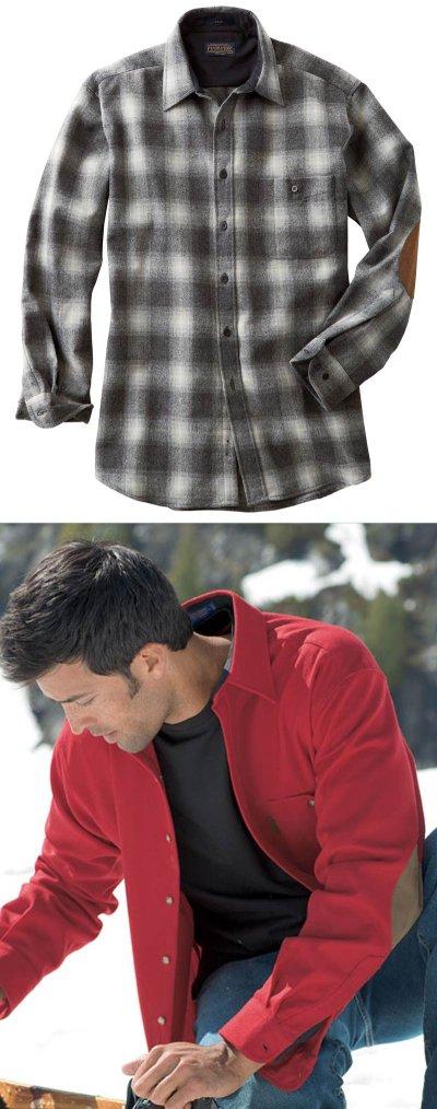 画像2: ペンドルトン ウール シャツ・エルボーパッチ トレイルシャツ ブロンズ・チャコールオンブレS/Pendleton Trail Shirt (Bronze Charcoal Ombre)