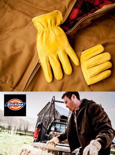 画像2: ディッキーズ 鹿革手袋 パインイエロー(裏地なし)M/Dickies Genuine Deerskin Leather Gloves(Pine Yellow)
