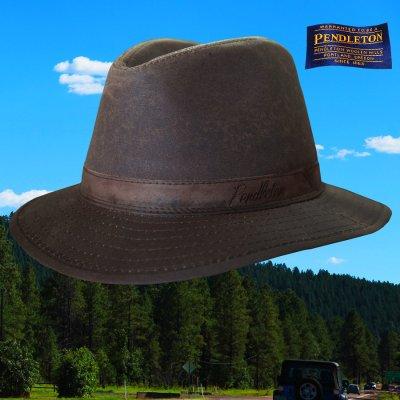 画像1: ペンドルトン オイルスキン ハット(ブラウン)/Pendleton Oilskin Hat
