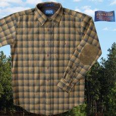 画像2: ペンドルトン ウール シャツ・エルボーパッチ トレイルシャツ ブロンズ・チャコールオンブレS/Pendleton Trail Shirt (Bronze Charcoal Ombre) (2)