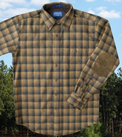 画像1: ペンドルトン ウール シャツ・エルボーパッチ トレイルシャツ ブロンズ・チャコールオンブレS/Pendleton Trail Shirt (Bronze Charcoal Ombre)
