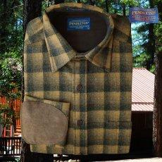 画像4: ペンドルトン ウール シャツ・エルボーパッチ トレイルシャツ ブロンズ・チャコールオンブレS/Pendleton Trail Shirt (Bronze Charcoal Ombre) (4)
