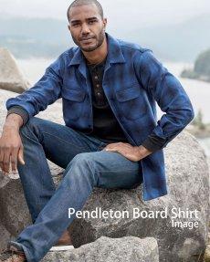 画像4: ペンドルトン ウールシャツ ボードシャツ ブループラッド/Pendleton Board Shirt (4)