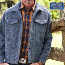 画像1: ペンドルトン ウールデニム ジーンジャケット(ダークブルーデニム)/Pendleton Jacket (1)