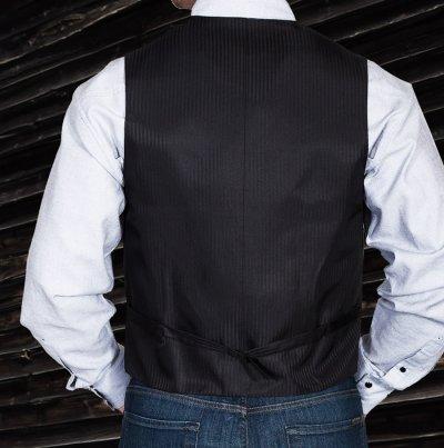 画像3: スカリー オールドウエスト ベスト(ソリッドブラック)/Scully Old West Vest (Solid Black)