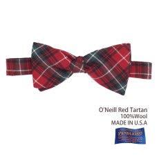 画像1: ペンドルトン アメリカ製 ウール ボウタイ 蝶ネクタイ(オニール レッド タータン)/Pendleton Bow Tie O'Neill Red Tartan (1)