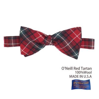 画像1: ペンドルトン アメリカ製 ウール ボウタイ 蝶ネクタイ(オニール レッド タータン)/Pendleton Bow Tie O'Neill Red Tartan