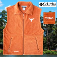 画像1: コロンビア スポーツウェア テキサスロングホーンズ フリース ベスト(ロングホーンズオレンジ)/Columbia Sportswear Texas Longhorns Fleece Vest(Cedar) (1)