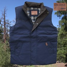 画像1: アウトバック トレーディング カウボーイ ダウン ベスト(ネイビー)/Outback Trading Down Vest(Navy) (1)