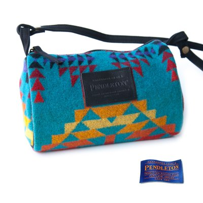 画像1: ペンドルトン ドップバッグ(ターコイズ・イエロー・レッド・パープル)/Pendleton Dopp Bag With Strap