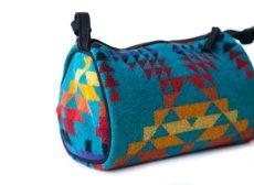 画像2: ペンドルトン ドップバッグ(ターコイズ・イエロー・レッド・パープル)/Pendleton Dopp Bag With Strap (2)
