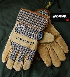 画像3: カーハート スエード ワーク グローブ シンサレート・ThinsulateTM Insulation/Carhartt Suede Work Gloves(Safety Cuff-Insulated) (3)