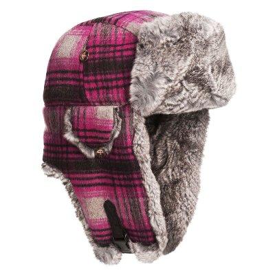 画像1: マッド ボンバー ハット 帽子 (レッキス ラビット ファー&ウールブレンド・ピンクグレープラッド)M/Mad Bomber Hat