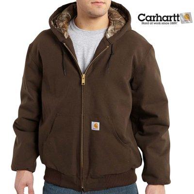 画像1: カーハート カモラインド アクティブ ジャケット(ダークブラウン)/Carhartt Camo Lined Active Jacket(Dark Brown)