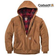 画像1: カーハート ダーククリムゾンプラッド ラインド アクティブ ジャケット(カーハートブラウン)/Carhartt Lined Active Jacket(Carhartt Brown) (1)