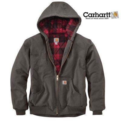 画像1: カーハート ダーククリムゾンプラッド ラインド アクティブ ジャケット(グラベル)/Carhartt Lined Active Jacket(Gravel)