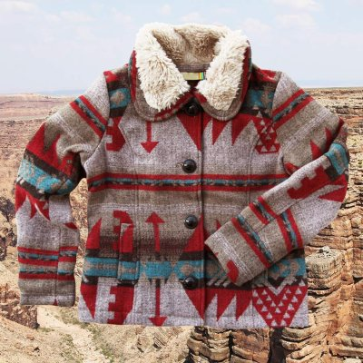 画像1: トゥルーグリット イエローストーン アズテック カントリージャケット(レディース・ライトブラウン)S/True Grit Yellowstone Jacket(Light Brown)