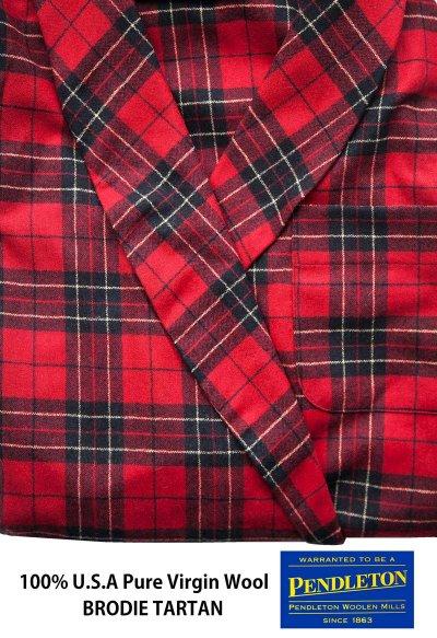 画像3: ペンドルトン ピュアーバージン ウール ローブ・ガウン(ブロディータータン)S/Pendleton Washable Whisper Wool Robe(Brodie Tartan)