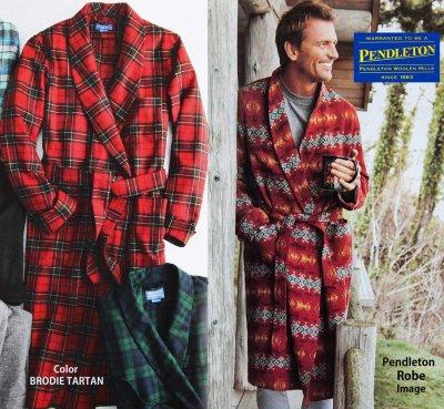 画像2: ペンドルトン ピュアーバージン ウール ローブ・ガウン(ブロディータータン)S/Pendleton Washable Whisper Wool Robe(Brodie Tartan)