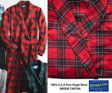 画像2: ペンドルトン ピュアーバージン ウール ローブ・ガウン(ブロディータータン)S/Pendleton Washable Whisper Wool Robe(Brodie Tartan) (2)