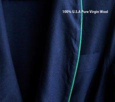 画像2: ペンドルトン ピュアーバージン ウール ローブ・ガウン(ネイビー)S/Pendleton Washable Whisper Wool Robe(Navy) (2)