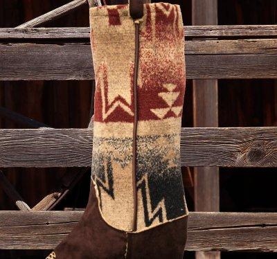 画像2: カウボーイ ブーツ ストッキング(インテリア)/Cowboy Boot Stocking