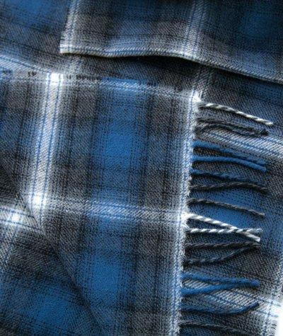 画像2: ペンドルトン ピュアバージンウール マフラー(ブルー・グレー)/Pendleton Whisperwool Muffler(Blue/Gray)