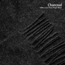 画像2: ペンドルトン ピュアバージンウール マフラー(チャコール)/Pendleton Whisperwool Muffler Charcoal (2)