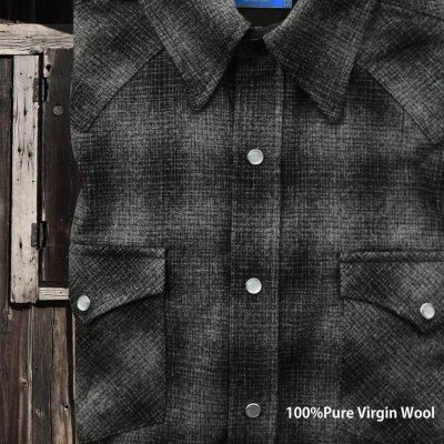 画像1: ペンドルトン  ウエスタンシャツ(ブラック チャコール)/Pendleton Western Shirt(Black Charcoal Shadow Plaid)