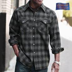 画像1: ペンドルトン  ウエスタンシャツ(ブラック チャコール)/Pendleton Western Shirt(Black Charcoal Shadow Plaid) (1)