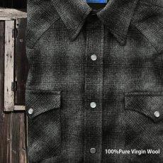 画像2: ペンドルトン  ウエスタンシャツ(ブラック チャコール)/Pendleton Western Shirt(Black Charcoal Shadow Plaid) (2)