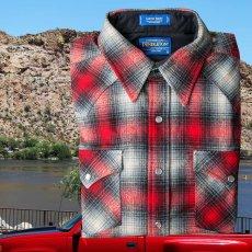 画像2: ペンドルトン ウエスタンシャツ(レッド・ブラック・ベージュオンブレ)/Pendleton Western Shirt (2)