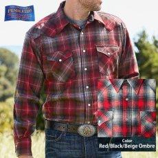 画像1: ペンドルトン ウエスタンシャツ(レッド・ブラック・ベージュオンブレ)/Pendleton Western Shirt (1)