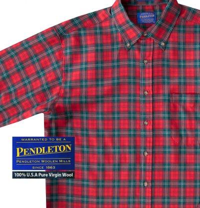 画像1: ペンドルトン サーペンドルトン ウールシャツ(レッド・グリーン・ホワイト)/Pendleton Sir Pendleton Wool Shirt(Red/Green/White)