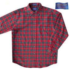 画像1: ペンドルトン サーペンドルトン ウールシャツ(レッド・グリーン・ホワイト)/Pendleton Sir Pendleton Wool Shirt(Red/Green/White) (1)